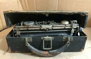 Antique 1917 Corona No. 3 Folding Portable Typewriter with Original Case *