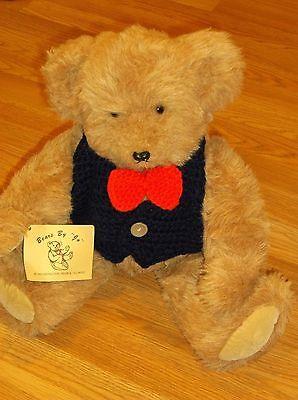 September Violets: Knitted Teddy Bear Vest | 400x298