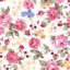 100/% COTTON FABRIC VINTAGE FLORAL ROSES TEA DRESS MATERIAL SEWING DRESSMAKING