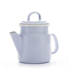 dove grey 1 2l enamel coffee pot teapot tea induction safe. Black Bedroom Furniture Sets. Home Design Ideas
