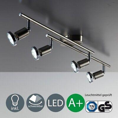 LED Decken-Leuchte Lampe 4-flammige Spot-Leiste Strahler Wohnzimmer Schlafzimmer