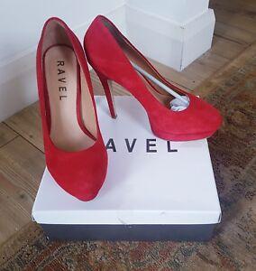 39 Joanne stile in in 6 Couture pelle scamosciata rossa Ravel Décolleté Décolleté vxU7wUp