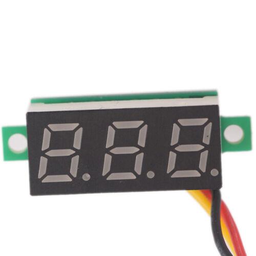 DC 0-100V Wires LED 3-Digital Mini Voltmeter Meter Display Voltage Panel TestYEZ