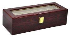 6 Grid Jewelry Watch Collection Display Storage Organizer wood Box Case Mens