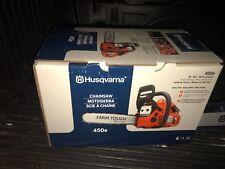 Husqvarna 450e 20 Inch Bar 50.2cc 3.2 HP X-torq Gas Powered 2 Cycle Chainsaw