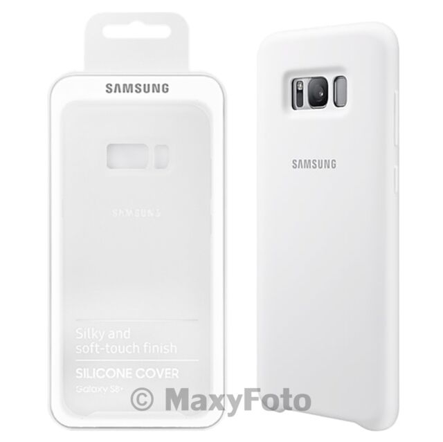 SAMSUNG CUSTODIA EF-PG955TSE SILICON COVER ORIGINALE GALAXY S8+ PLUS G955 WHITE