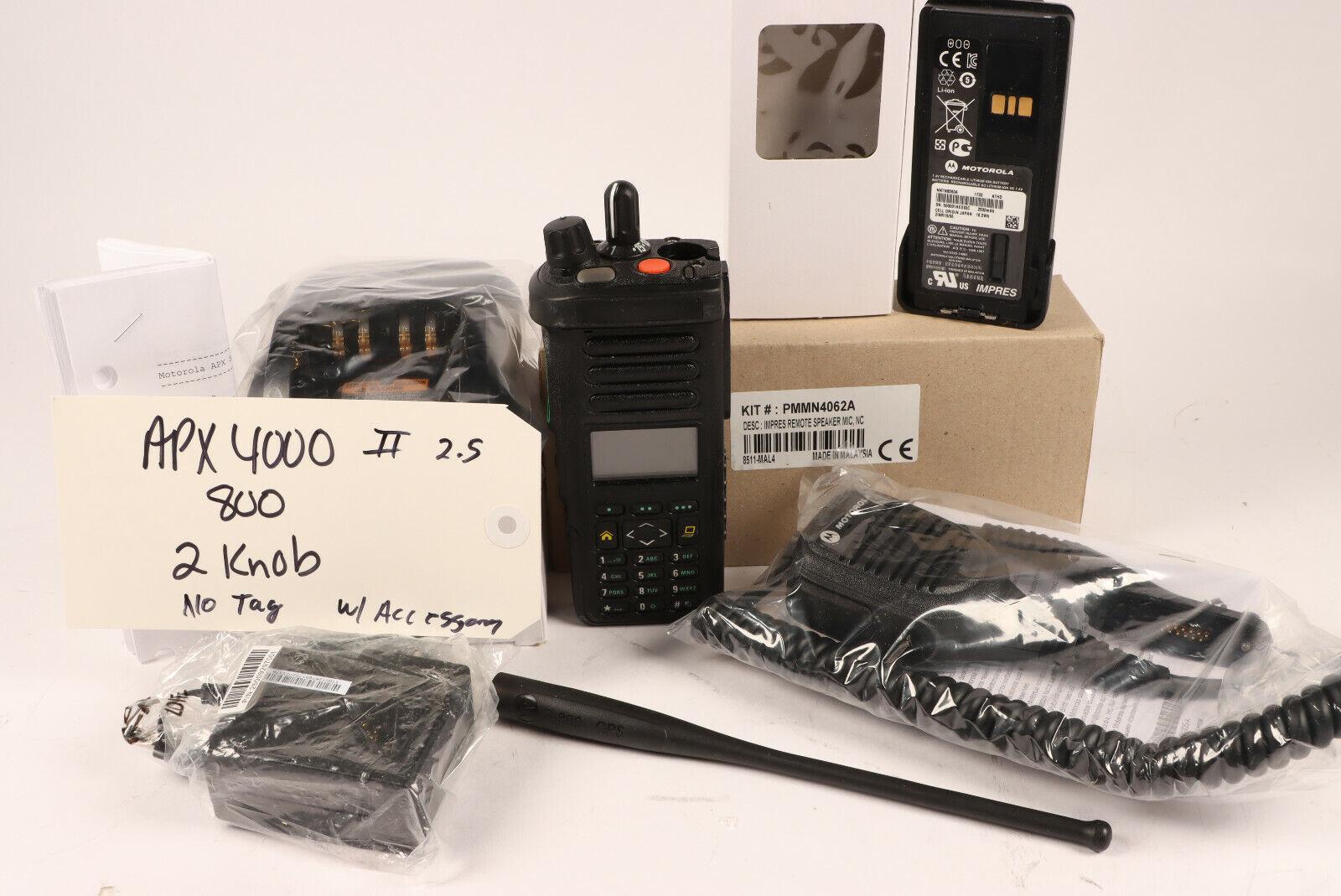Motorola APX4000 /XE 700-800MHz+5 Algo's + Bluetooth (2) knob*Tech Special *Read. Buy it now for 1000.00