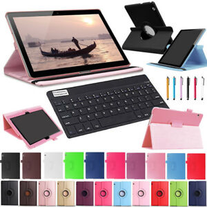 Bluetooth Keyboard Leather Case Cover For Huawei Mediapad T3 8 10