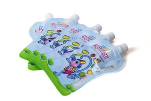 Pioupiou et Merveilles 10 Gourdes Réutilisables Fill N Squeeze Multicolore