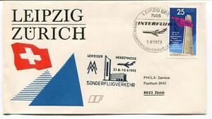 Ffc 1972 Interflug Special Flight Leipzig Zurich Sonderflugverkehr Herbstmesse Des Biens De Chaque Description Sont Disponibles