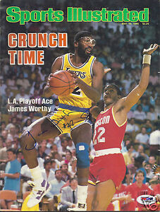fd4dbe2f735 Image is loading JAMES-WORTHY-LOS-ANGELES-LAKERS-SIGNED-SPORTS-ILLUSTRATED-