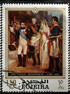 Stamp-New-Napoleon-Bonaparte-Paintings-Fajarah-88M388