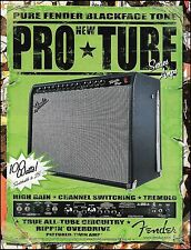 Fender Pro Tube Series Guitar Twin Amp 2002 ad 8 x 11 amplifier advertisement