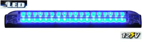 "BLUE 8/"" Car Boat RV 18 LED LIGHT STRIP Waterproof HQ 12V Marine Accent Lighting"