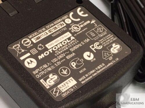 LOT OF 2  PWRS-14000-273R MOTOROLA POWER ADAPTER 100-240V 0.15A OUTPUT 5V 850mA