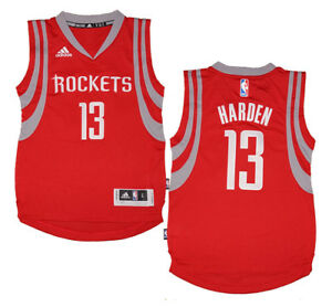 e7470e12f Youth James Harden  13 Houston Rockets NBA Adidas Red Swingman ...