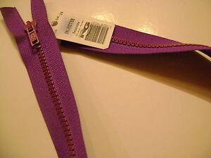 1 Fermeture Eclair Rg Séparable Violet 124 Injectée 60 Cm N° 75 Yv
