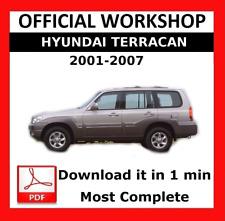 official workshop manual service repair hyundai terracan 2001 2007 rh ebay co uk hyundai terracan service repair manual 2005 hyundai terracan owner's manual