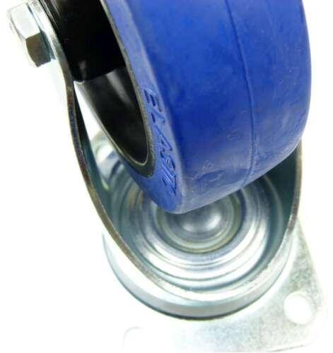 24 St 125 mm SL Rollen Blue Wheels Lenkrollen Schwerlastrollen Transportrollen