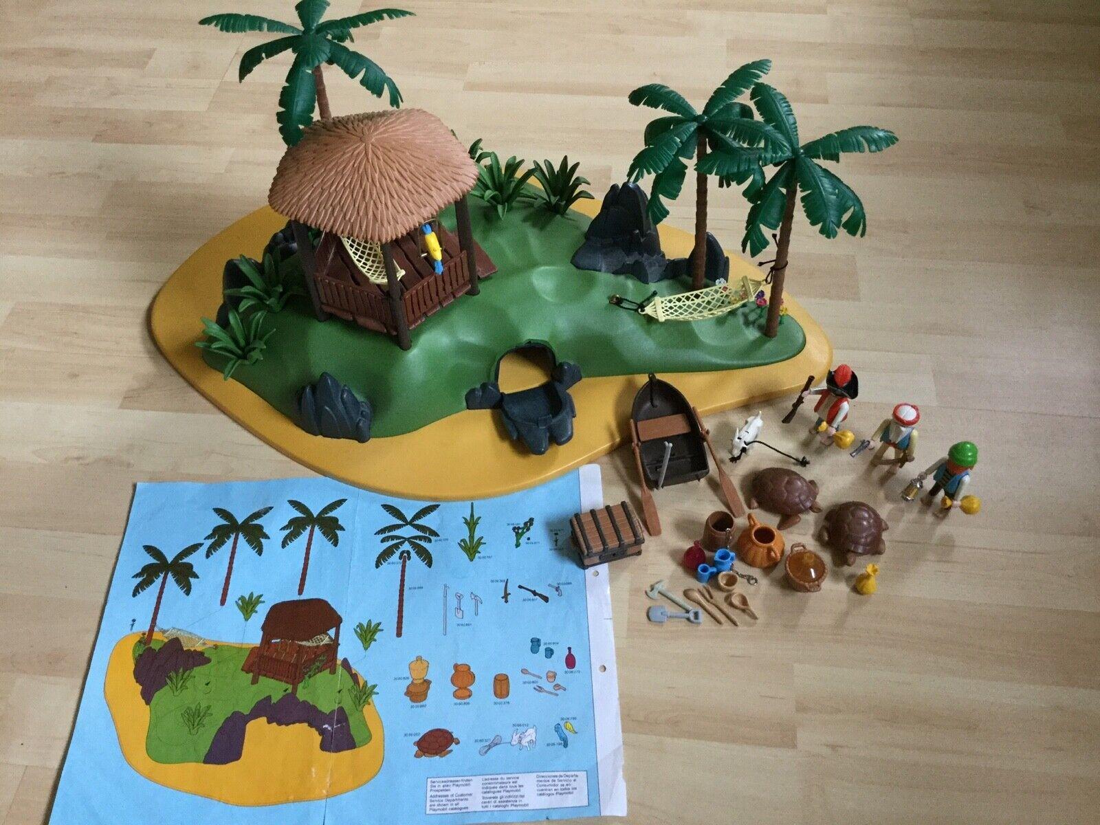 Guter Zustand - Playmobil Pirateninsel