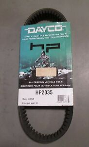 HP High-Performance Belt For 2006 Bombardier Outlander 400 HO 4x4~Dayco HP2035