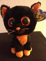 Ty Beanie Boo Boos Moonlight Halloween Cat 6 Original Purple Tag (please Read)
