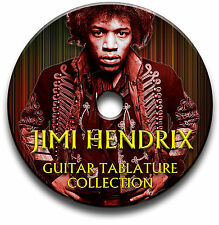 JIMI HENDRIX ROCK GUITAR TAB TABLATURE SONG BOOK ANTHOLOGY SOFTWARE LIBRARY CD