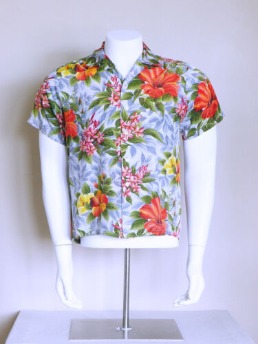 vtg 50s tropical surf PALI hawaiian rockabilly jap