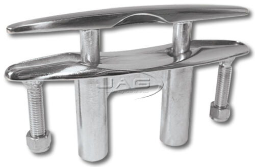 """8/"""" 200mm 316 STAINLESS STEEL POP-UP PULL-UP FLUSH MOUNT LIFT CLEAT-Boat//Marine"""