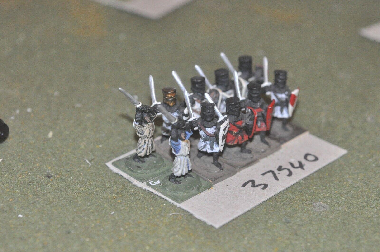 25mm medieval inglés-Lanceros 22 figuras-INF (37540)