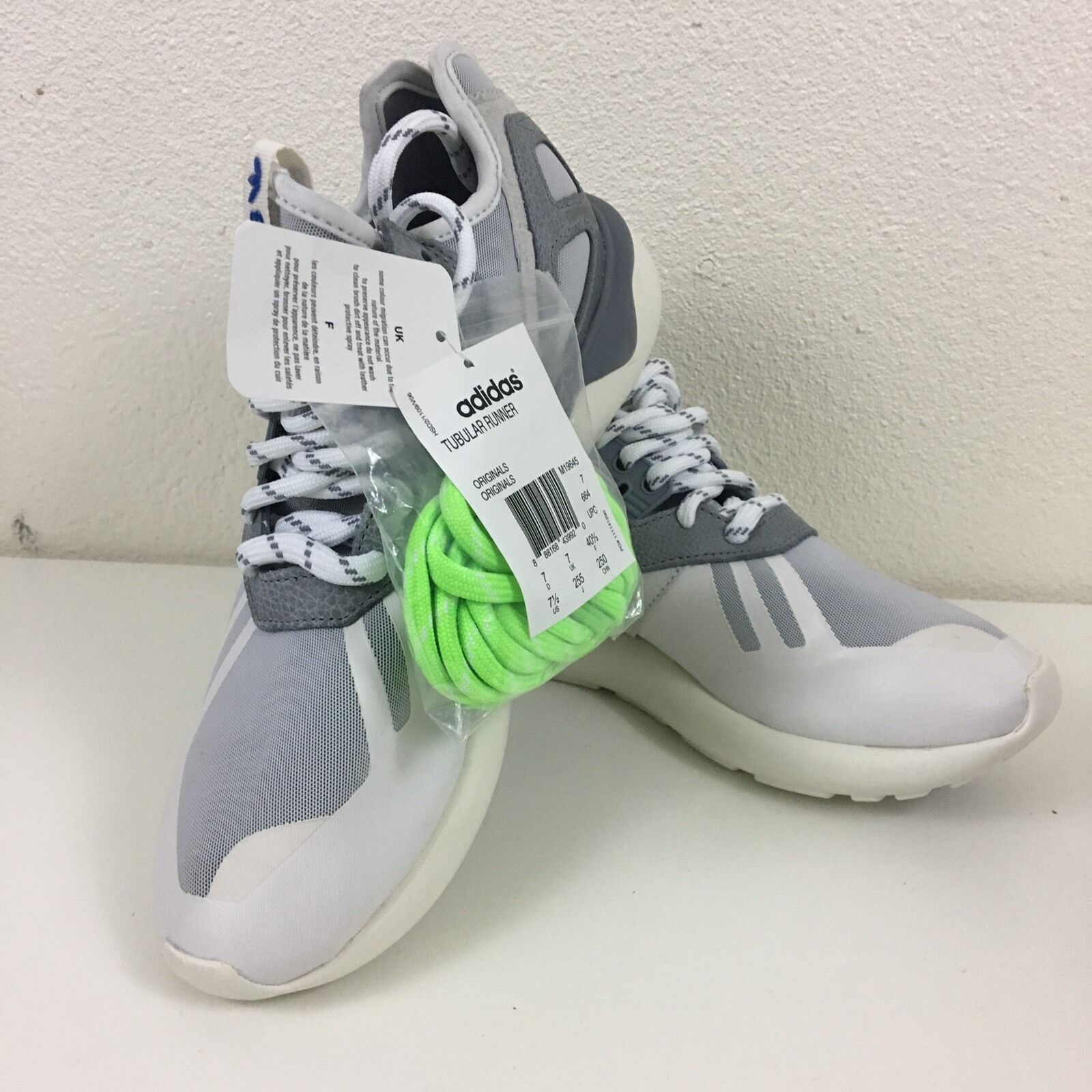 Adidas Runner Blanco Onix gris m19645 tubular hombre tamaño 7,5 m19645 gris MSRP price reduction 5c1b72