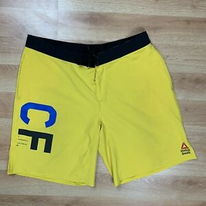 Men-039-s-yellow-REEBOK-CROSSFIT-shorts-Trunks-Boardshorts-Size-XL