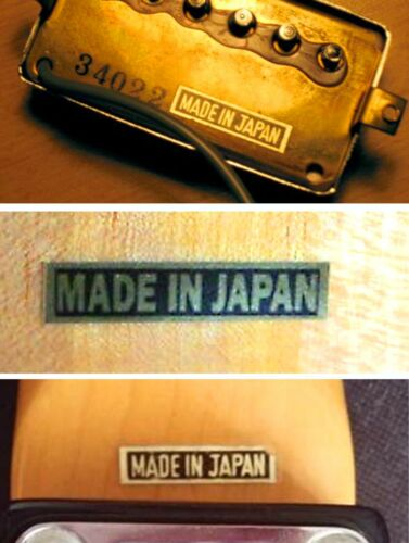 Made In Japan Decal Guitar Headstock Decal MIJ Teisco Ibanez Kawai 1960/'s toy