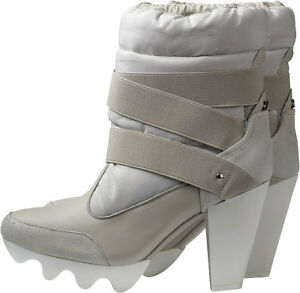 Ankle Grau Boot Pumps Adidas Heel Snow Slvr High YqagwB4