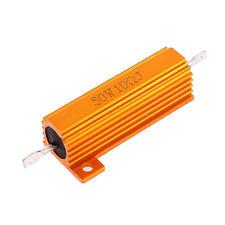 Gold Tone Screw Tab 50W 10 Ohm 10R Aluminium Clad Resistor 5% Tolerance LW