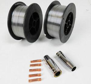 2 x acier doux de soudage MIG Wire - 0.6 mm 0.7 kg-Moulinet (Inc. M6 astuces et Carénages)-afficher le titre d`origine R8QW1yiT-07135255-172360129
