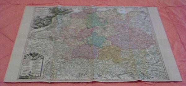 Die Reichskreise Des Deutschen Reichs In Einer Karte Von 1732 - Replikat Krankheiten Zu Verhindern Und Zu Heilen