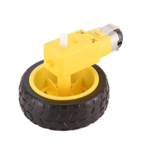 Arduino Smart Car Robot Plastic Tire Wheel with DC 3-6v Gear Motor for Robot/_TI