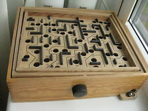 Vintage 1980s Swedish Brio Vintage Tilt Maze Game Large