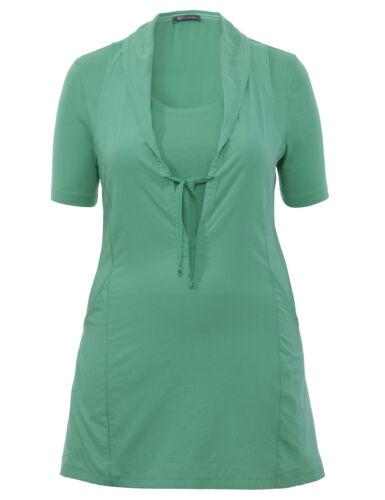 """B2 courte robe d/'été//tunique /""""Two-en-un/"""" In a-Forme Vert Femmes Taille 46"""