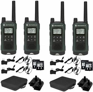 Walkie Talkie With Headset Hands Free Hunting Radio W Ptt Gmrs 4 Pack Noaa Ip64 713589712898 Ebay