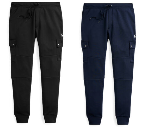 Polo Ralph Lauren Double Knit Fleece Cargo Jogger Track Pants New