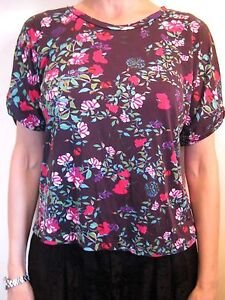 Mary-Katrantzou-For-Topshop-Size-6-or-8-Purple-Floral-Oversize-T-Shirt-Top