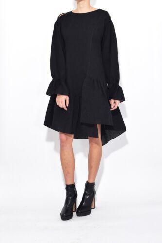 Philip Lim Dress Us 10 6 Ruffle Hem Black Asymmetric New Uk 1Bdnx4q4