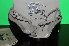 BURBERRY WEDGE TRENCH  PATENTE LEATHER  #8.5us $499
