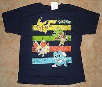 Pokemon Navy Blue Short Sleeve Shirt Tee Shirt M - 10/12