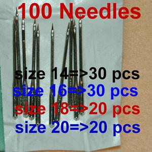 100-Home-Sewing-Machine-Thread-Needles-Size-14-16-18-20-Kits-Craft-For-Singer