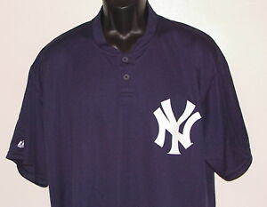 new style 045d4 a3b2d Details about NEW MLB New York NY YANKEES MAJESTIC 2-Button *COOL BASE*  Jersey SHIRT (M) (XL)