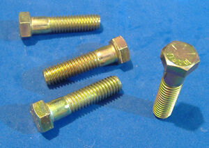 "LOT OF 8 GRADE 8 HEX HEAD CAP SCREW 1//4-20 X 3//4/"" YELLOW ZINC HARDENED BOLT"