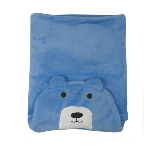 Animal Shaped Newborn Baby Fluffy Soft Fleece Hooded Blanket Wrap